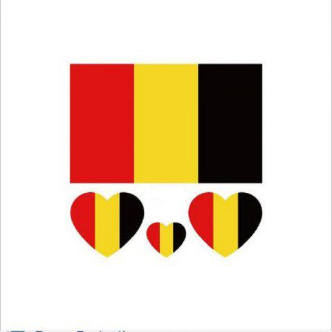 The Belgian Flag Football World Cup Body Tattoo Stickers - multicolor
