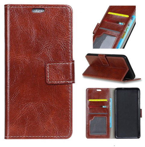 Cover Case For Motorola Moto X4 Genuine Quality Retro Style Crazy Horse Pattern Flip PU Leather Wallet - BROWN