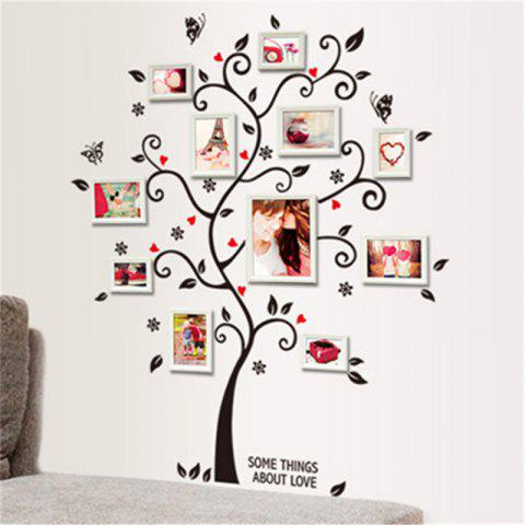 2018 DIY Family Photo Frame Tree Wall Sticker Home Decor In WHITE ...