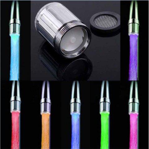 [Straight on] Colorful Glowing Mini Micro-shaped Color Faucet Without Adapter - SILVER WHITE