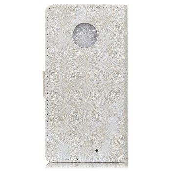 Cover Case For Motorola Moto X4 Genuine Quality Retro Style Crazy Horse Pattern Flip PU Leather Wallet - WHITE