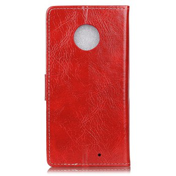 Cover Case For Motorola Moto X4 Genuine Quality Retro Style Crazy Horse Pattern Flip PU Leather Wallet - RED