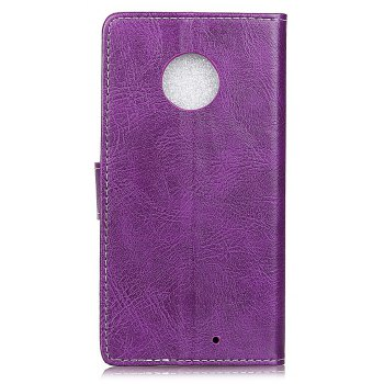 Cover Case For Motorola Moto X4 Genuine Quality Retro Style Crazy Horse Pattern Flip PU Leather Wallet - PURPLE