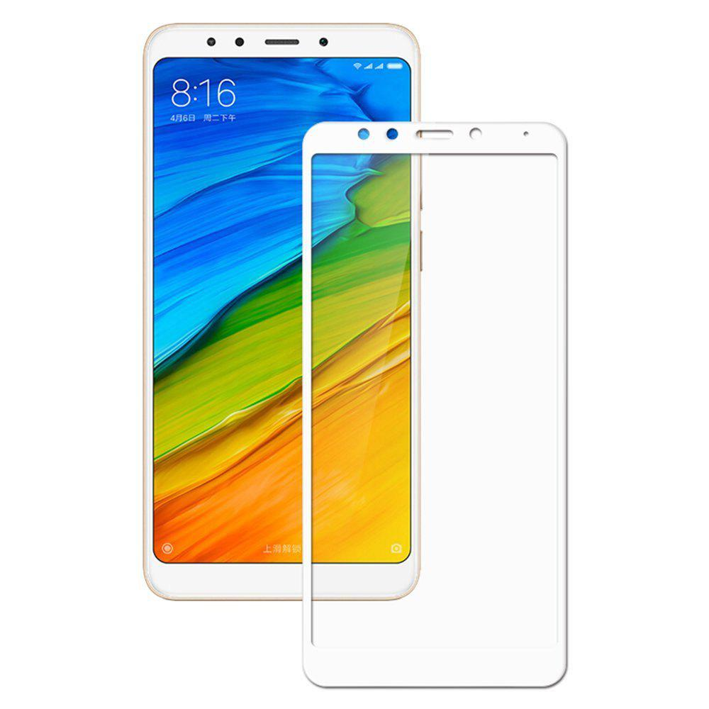 2PCS Screen Protector for Xiaomi Redmi 5 Plus HD 3D Full Coverage High Clear Premium Tempered Glass - WHITE