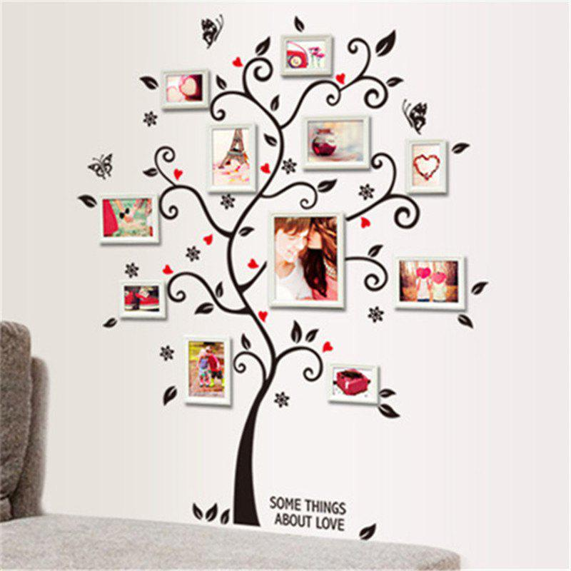 DIY Family Photo Frame Tree Wall Sticker Home Decor - WHITE