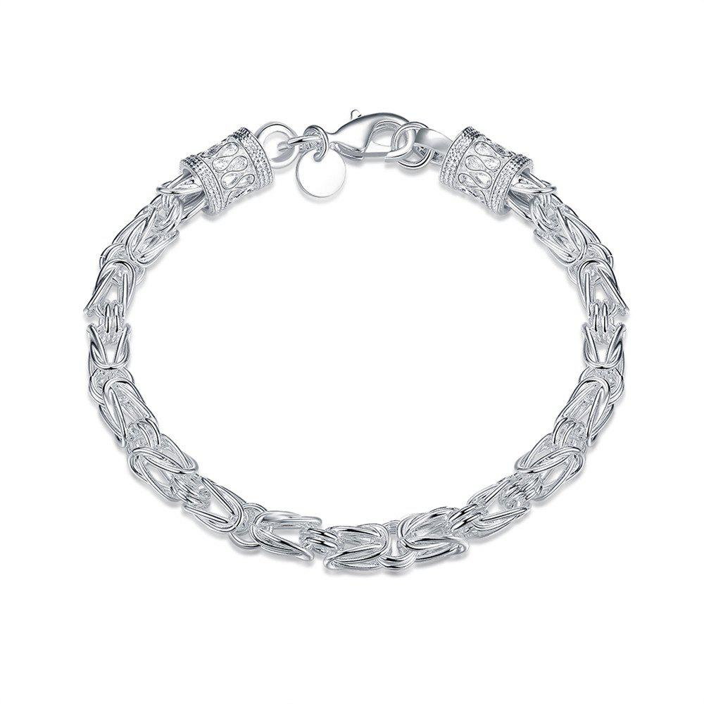 Alloy Chain Bracelet for Men Charm Jewelry - SILVER