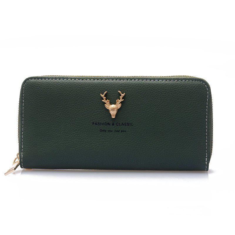 Large Capacity Simple Long Ladies Wallet - DARK FOREST GREEN