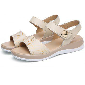 Summer New Style Two-Color Bottom Ladies Sandals - WHITE 37