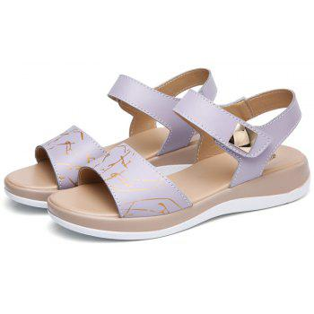 Summer New Style Two-Color Bottom Ladies Sandals - LILAC 37
