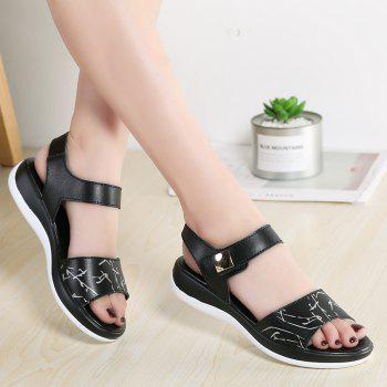 Summer New Style Two-Color Bottom Ladies Sandals - BLACK 35