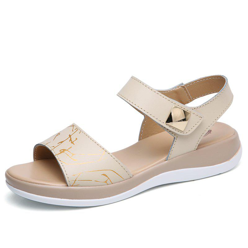 Summer New Style Two-Color Bottom Ladies Sandals - COOL WHITE 37
