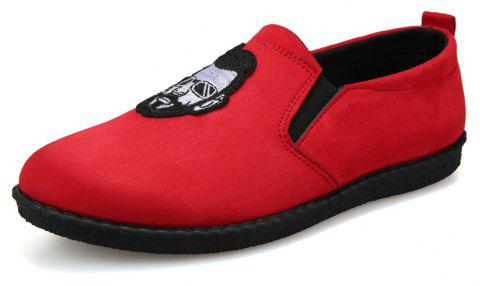 Head Pattern Leisure Male Version Driving Lazy Shoes - RED 43