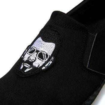 Head Pattern Leisure Male Version Driving Lazy Shoes - BLACK 43