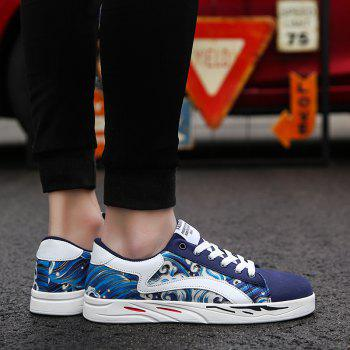 2018 Spring Sports and Leisure Trend Van Gogh Wind Shoes - ROYAL BLUE 43