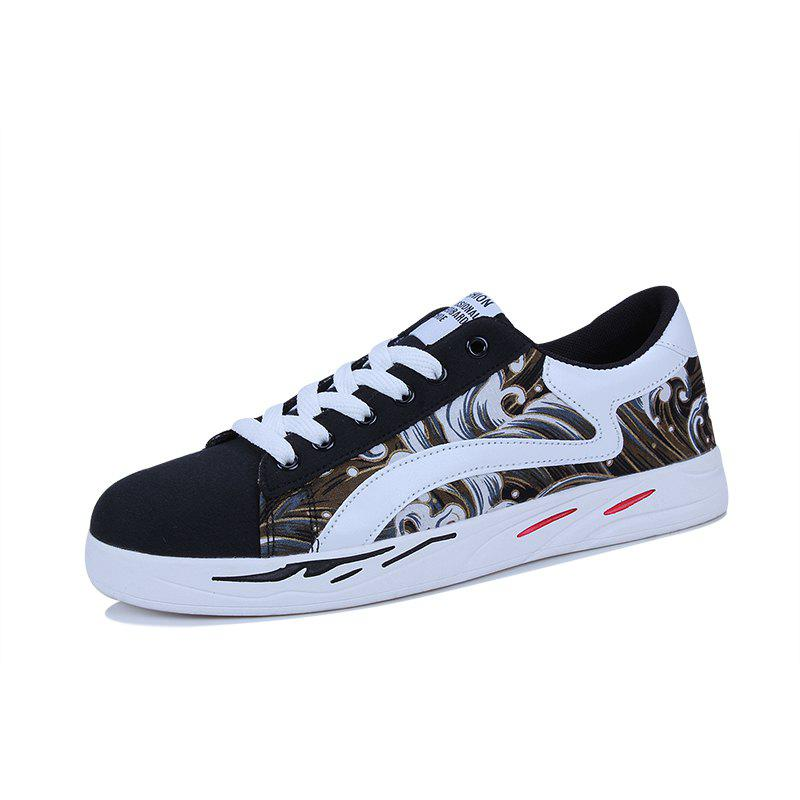 2018 Spring Sports and Leisure Trend Van Gogh Wind Shoes - BLACK 43