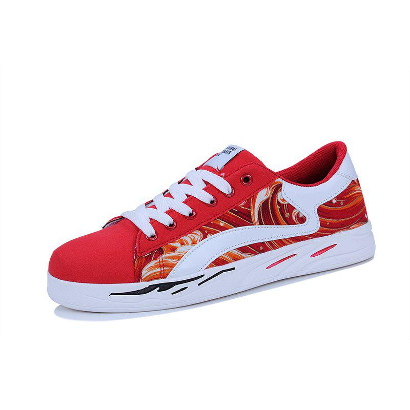 2018 Spring Sports and Leisure Trend Van Gogh Wind Shoes - FERRARI RED 43