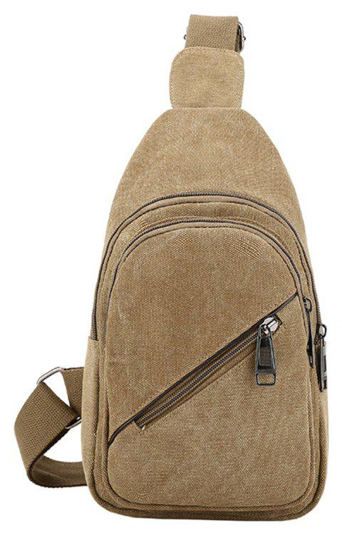Fashion Simple Wild Male Canvas Classic Chest Bag - YELLOW