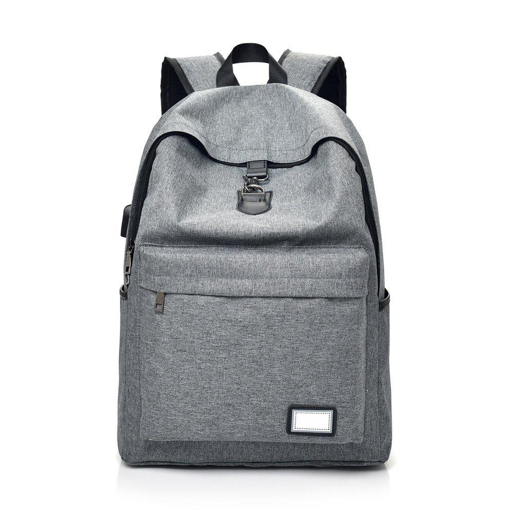 Fashion Simple High-Capacity Canvas Male Travel Backpack - GRAY