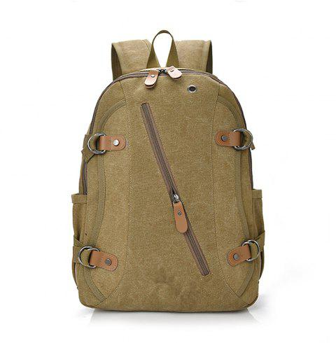 Canvas Fashion Simple Wild Large Capacity Outdoor Backpack Tide - TIGER ORANGE