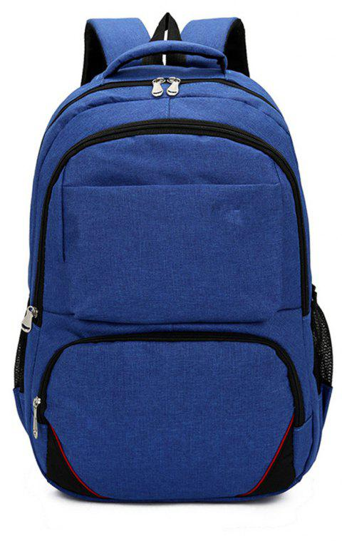 Fashion Simple and Large Capacity Wild Canvas Travel Backpack Tide - BLUE