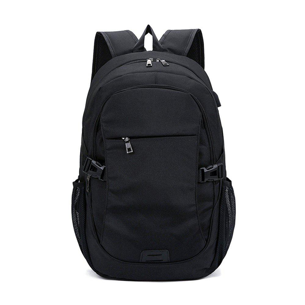 Fashion Simple High-Capacity Canvas Travel Male Outdoor Travel Backpack Tide - BLACK