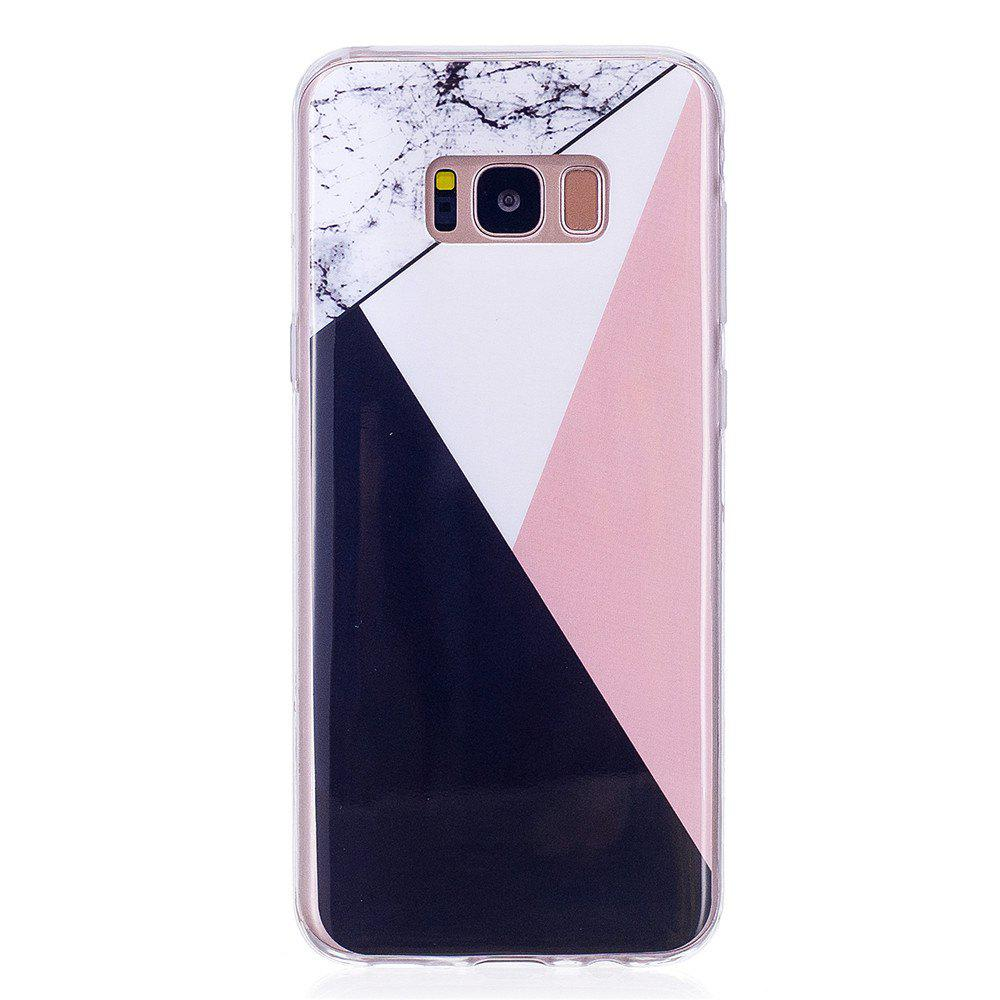 Mixed Color Mosaic Fashion Marble Soft TPU Phone Case For Samsung Galaxy S8 - multicolor