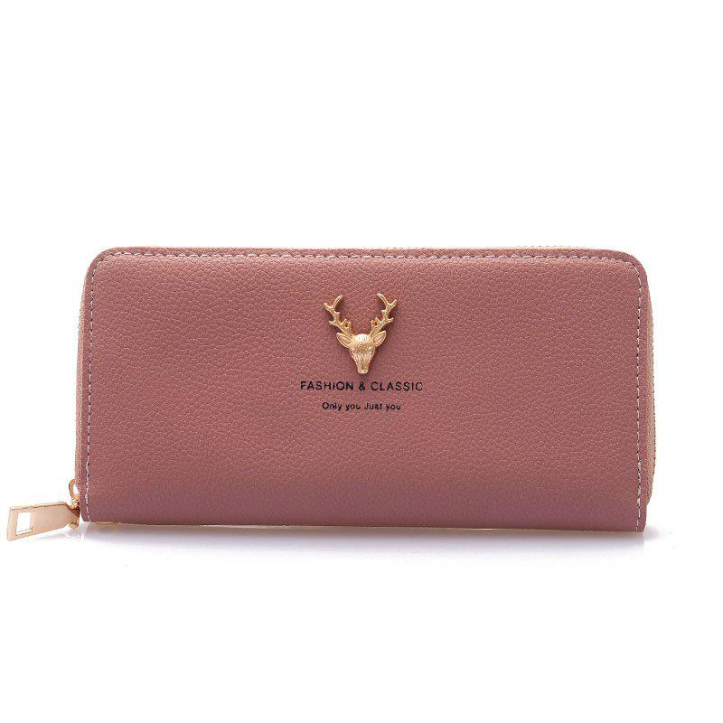 Lutou High-Grade Hardware Zipper Bag - ROSE