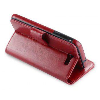 PU Leather Wallet Case with Detachab Magnetic Back Cover for Samsung Galaxy J720 - RED WINE
