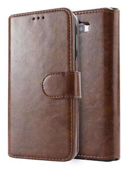 2 in 1 Wallet Case with Detachable Back Cover for Samsung Galaxy J7 Prime - BROWN BEAR