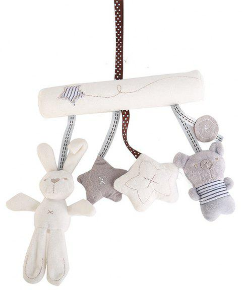 Multifunctional Baby Toy Colorful Stroller Accessories Cute Crib Pendant - MILK WHITE