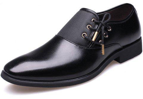 New Men's Classic Point Toe Oxfords For Men Fashion Business Party Dress Shoes - BLACK 45