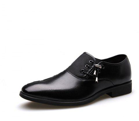New Men's Classic Point Toe Oxfords For Men Fashion Business Party Dress Shoes - NIGHT 40