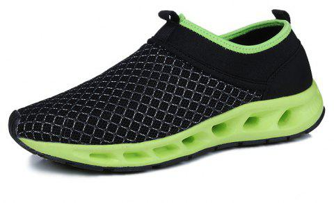 Men Textile Breathable Running Sneakers Outdoor Water Shoes - FROG GREEN 44