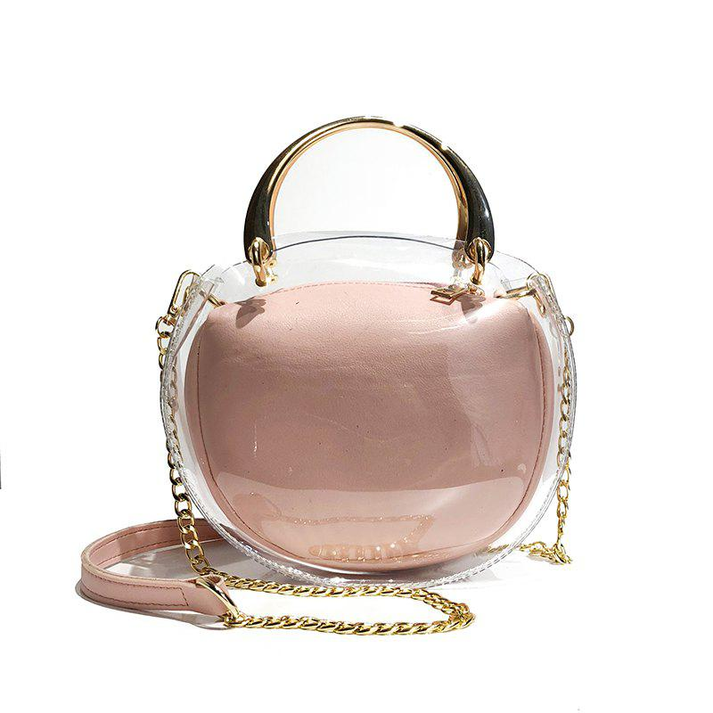 Фото - Two Pieces Transparent Jelly Shoulder Messenger Bag Fashion Handbag 2017 luxury brand women handbag oil wax leather vintage casual tote large capacity shoulder bag big ladies messenger bag bolsa