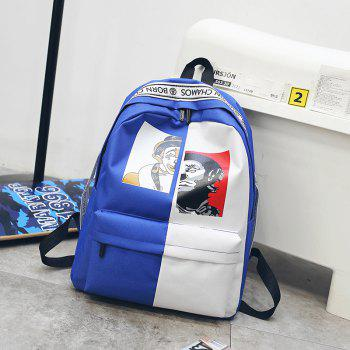 Contrast Color Casual Unisex Backpack - multicolor C