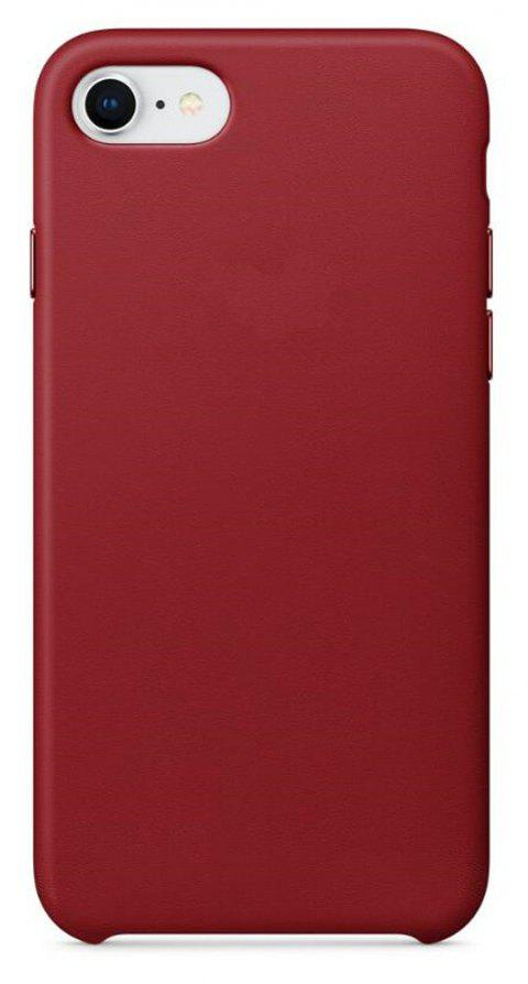 Case for iPhone 8  / 7 Leather Shell - CRANBERRY