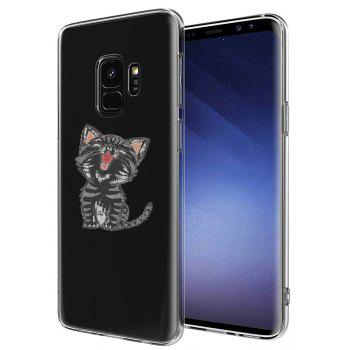 Case for Samsung Galaxy S9 Plus TPU Soft Cat Pattern - TRANSPARENT