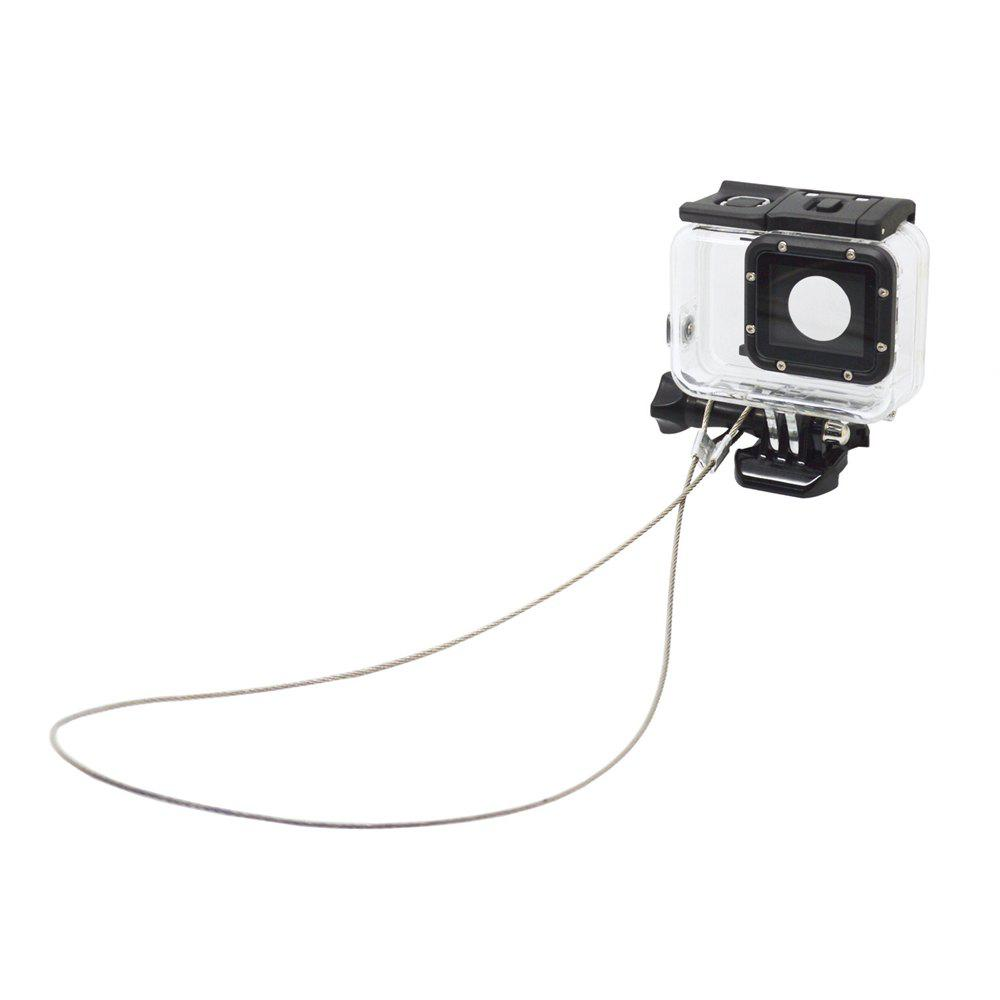 Accessories 30CM Stainless Steel Lanyard Tether for GoPro Hero - SILVER