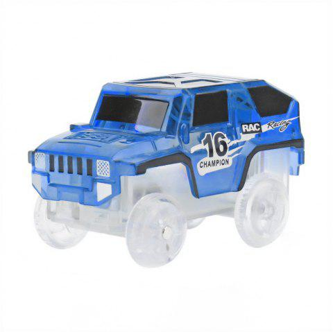 Electric Glow Tracks Cars - BLUE 4.5 X 4.5 X 8CM