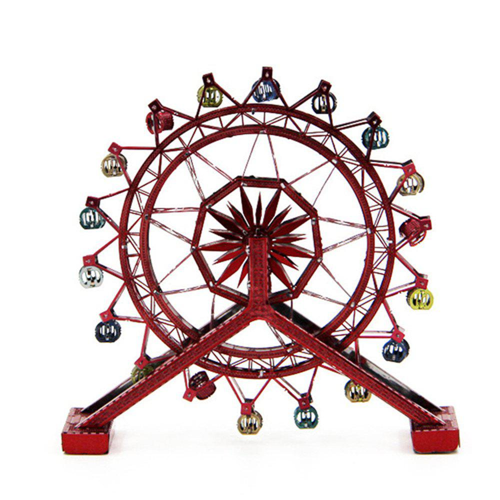 Creative Rotating Ferris Wheel 3D Metal High-quality DIY Laser Cut Puzzles Model - multicolor