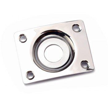 Oval Curved Jack Plate for Electric Guitar Bass - SILVER