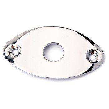 Steel Ovoid Curved-profile Guitar Jack Plates - SILVER