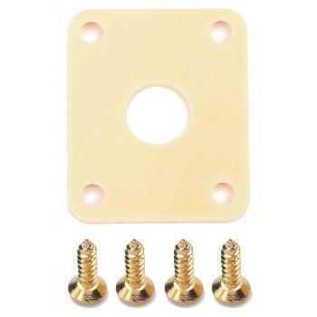 Electric Guitar Output Jack Socket Square Plastic Plates for LP Bass - YELLOW