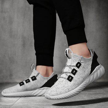 2018 Explosion Models Flying Weaving Sports Shoes - WHITE 43