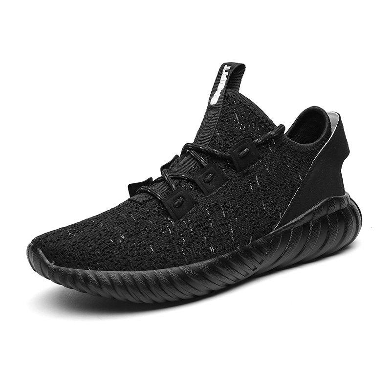 2018 Explosion Models Flying Weaving Sports Shoes - BLACK 44