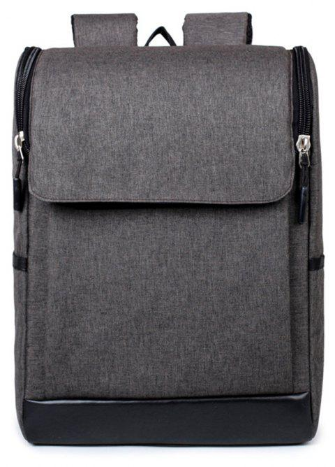 Joker Simple High-Capacity Fashion Canvas Computer Backpack Tide - GRAY