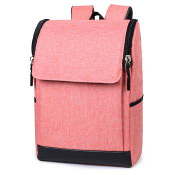 Joker Simple High-Capacity Fashion Canvas Computer Backpack Tide - PINK