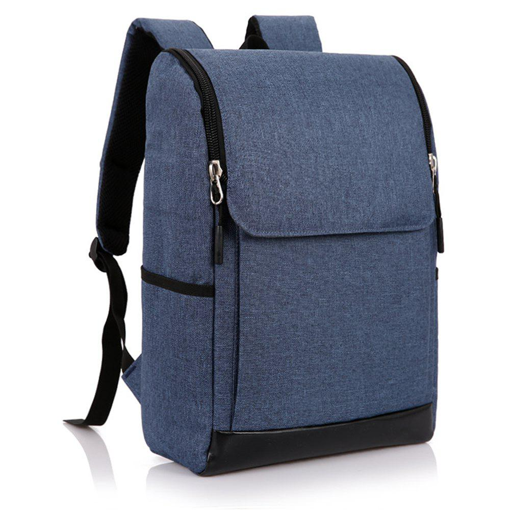 Joker Simple High-Capacity Fashion Canvas Computer Backpack Tide - BLUE
