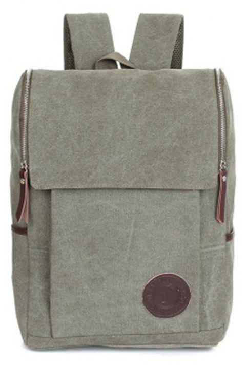 Men's Backpacks Canvas Crossbody Chest Softback Men'S Bags - AVOCADO GREEN