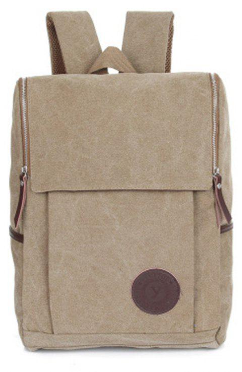 Men's Backpacks Canvas Crossbody Chest Softback Men'S Bags - LIGHT KHAKI